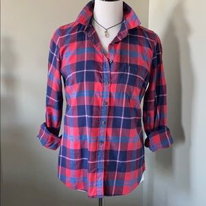 {J Crew} NWT Perfect Fit Flannel Shirt, size S